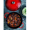 product in gebruik Marmite Braadpan 32 cm Kersenrood