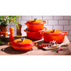 samengesteld product Ronde Braadpan 20 cm Oranje-rood