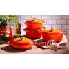 product in gebruik Ovale Braadpan 27 cm Oranje-rood