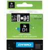 Dymo D1 Naamlabels Zwart-Wit (12 mm x 7 m)