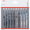 Bosch 10-delige Decoupeerzaagbladenset Wood & Metal