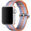 rechterkant Watch 38mm Nylon Woven Polsband Oranje