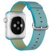 achterkant Watch 42mm Nylon Woven Check Band Blauw