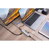 product in gebruik USB C 6 In 1 Docking Station Silver