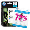 HP 302 Ink Cartridge Combo-pack (X4D37AE)