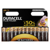 Piles AA alkaline Duracell Plus Power 12 pièces