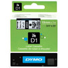 Dymo D1 Name Labels Black-White (24mm x 7 m)