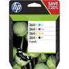 HP 364XL Combo Pack 4 Colors (N9J74AE)