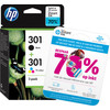 HP 301 Cartouche d'encre Pack Combo (N9J72AE)