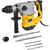 <p>If you're planning to drill hard materials like brick or concrete, but also want the option of removing a tile wall, the Powerplus POWX1195 is a very suitable combi hammer. With a 1,500-watt power and 6-joule impact force, you can drill 32-millimeter holes into concrete. Attach a chisel to the SDS-plus drill head, switch on the breaking function, and you'll be able to carry out light chiseling work. The soft grip and dust cover ensure that the POWX1195 is comfortable to use despite the vibrations, while any dust released in the air doesn't end up on your face. With the 3 included drills and 2 types of chisels, you can start using your new combi hammer right away.</p>
