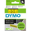 DYMO Authentieke D1 Labels Zwart-Geel (12 mm x 7 m) 1 Rol