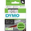 DYMO Authentieke D1 Labels Zwart-Wit (19 mm x 7 m)