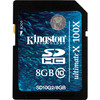 Kingston SDHC Ultimate X 8 GB Class 10 + Geheugenkaartlezer