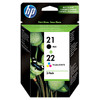 HP 21/22 Cartridge Zwart + Combo Pack 3-Kleuren (SD367AE)