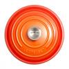bovenkant Ronde Stoof-/Braadpan 24 cm Oranje-rood