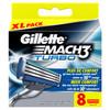 8x Gillette Mach3 Turbo Scheermesjes