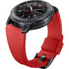 rechterkant Gear S3 Silicon Band Orange Red