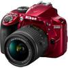 voorkant D3400 Rood AF-P + 18-55mm VR