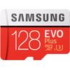 voorkant Samsung microSDXC Evo+ 128 GB 100MB/S