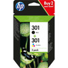 verpakking 301 Ink Cartridge Combo-pack (N9J72AE)