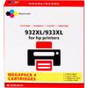 Huismerk 932/933 Cartridge 4-Kleuren XL voor HP printers (C2P42AE)