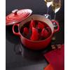 product in gebruik Ronde Stoof-/Braadpan 26 cm Kersenrood
