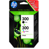 HP 300 Cartridge Zwart + Combo Pack 3-Kleuren (CN637EE)