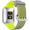 voorkant Ionic Siliconen Horlogeband Grijs/Geel