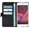 Azuri Wallet Magnet Motorola Moto Z2 Play Book Case Black