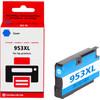 voorkant 953XL Cyaan voor HP Printers (PJ-H953C)