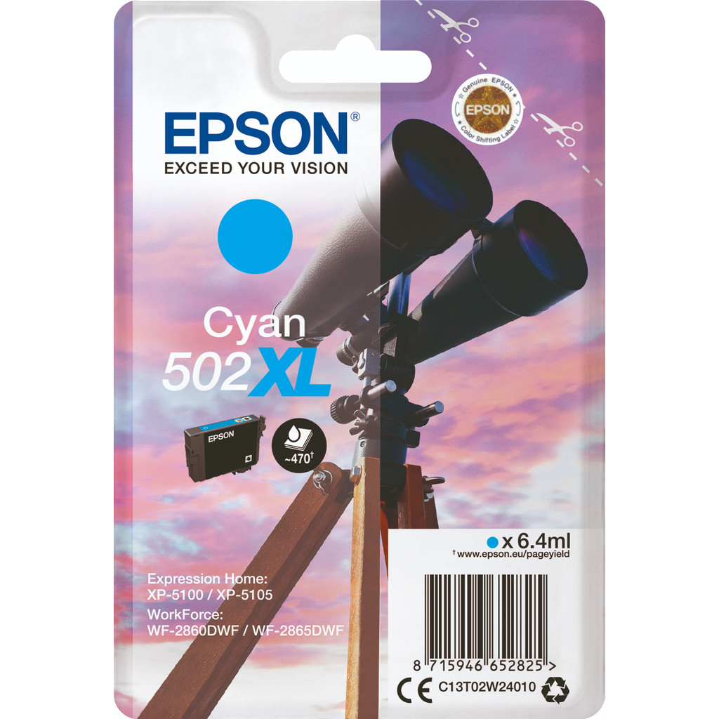 Epson 502XL Cyan (C13T02W24010)