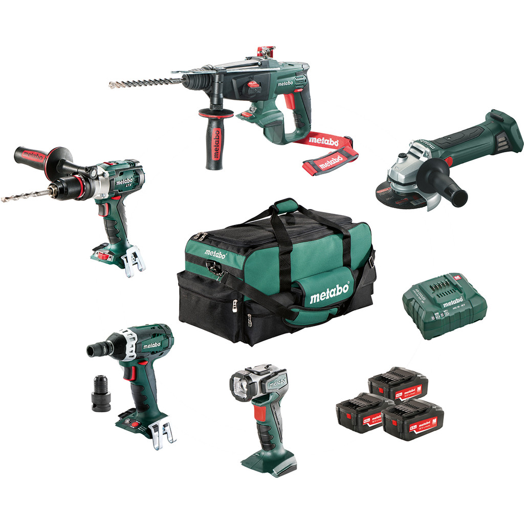 Metabo Combiset : Construction & Rénovation - 5 machines