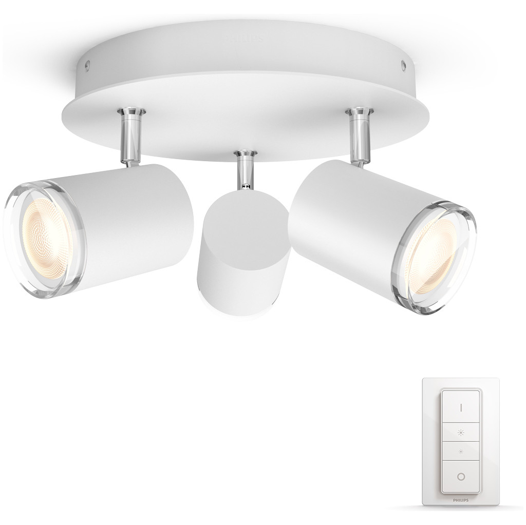 Philips Hue Adore 3 Spots Ronds Blanc