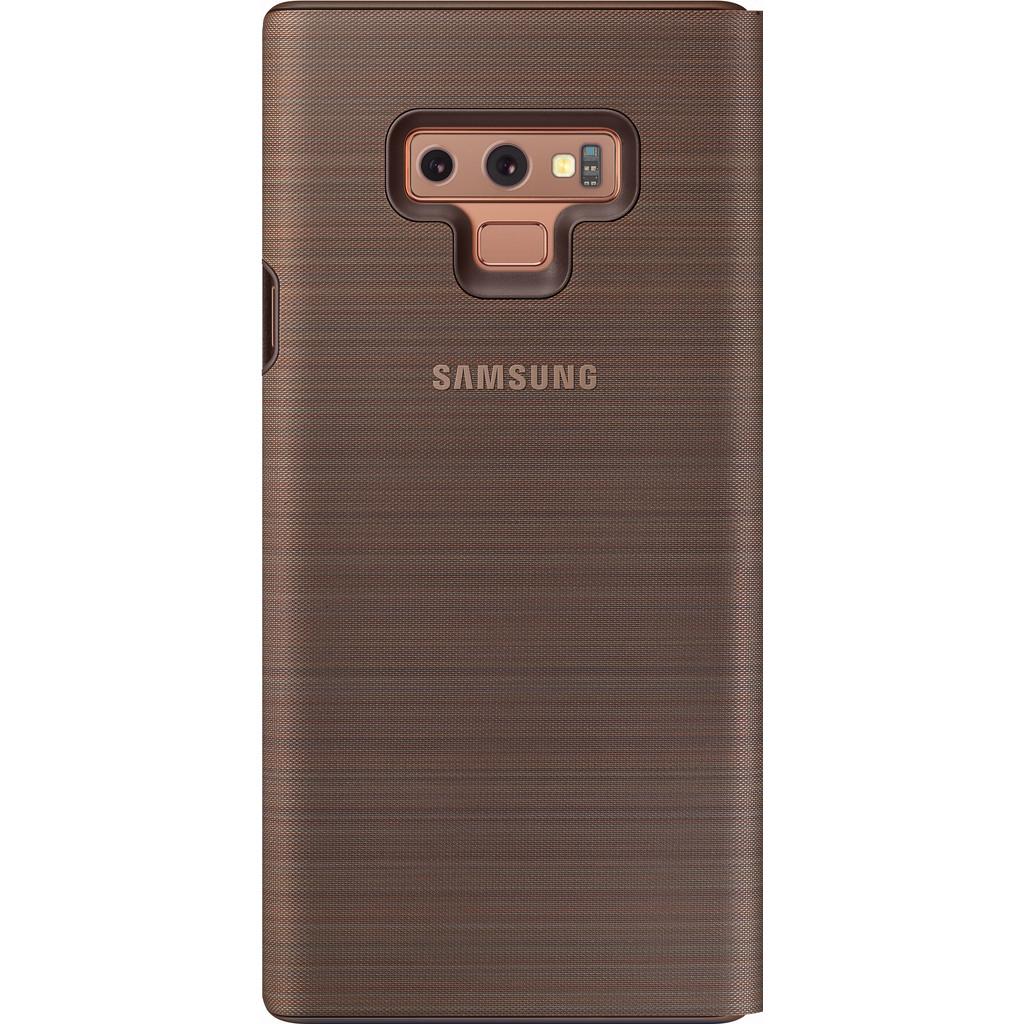 Samsung Galaxy Note 9 Étui LED View Marron
