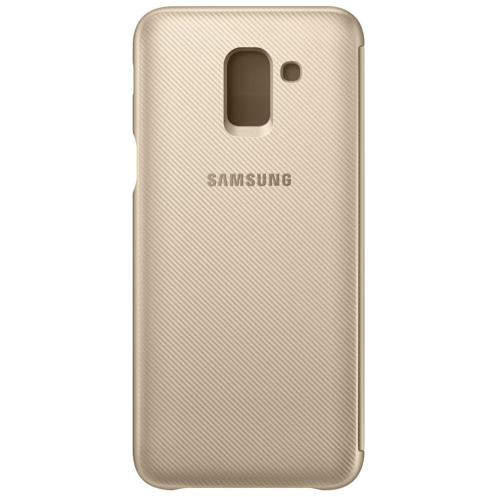 Samsung Galaxy J6 (2018) Coque à Rabat Portefeuille Or