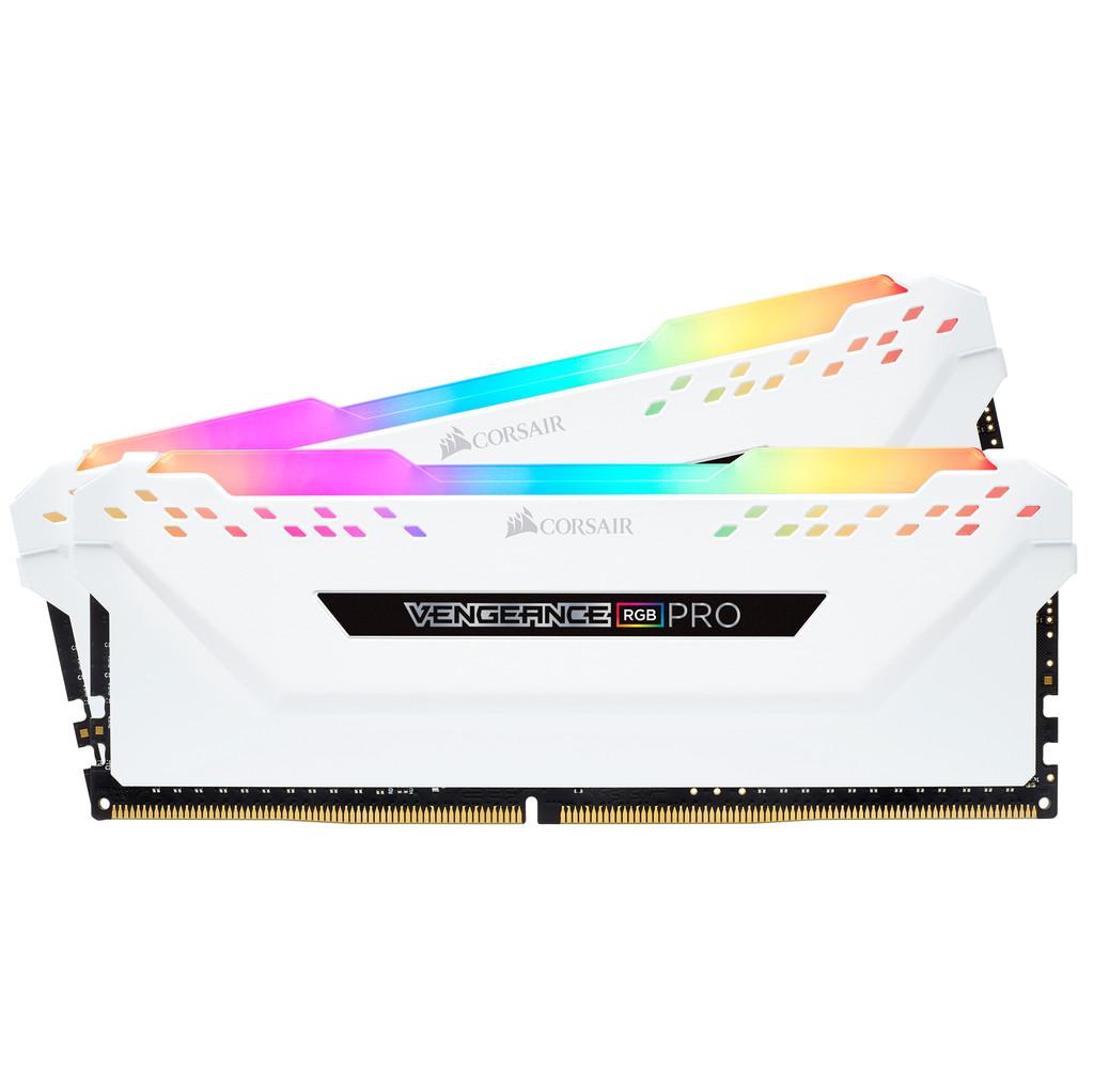 Corsair Vengeance RGB Pro 16 Go DDR4 DIMM 2666 MHz/16 (2 x 8 Go) Blanc