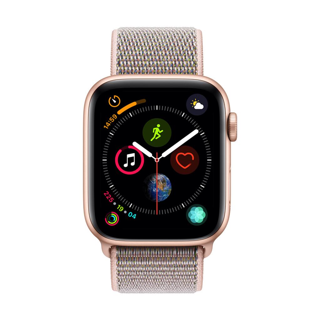Apple Watch Series 4 44 mm Bracelet Sport Or Aluminium/Rose Nylon