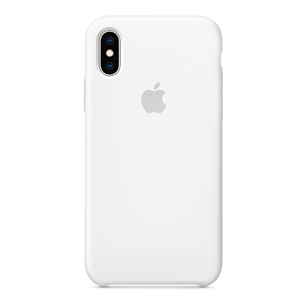 Apple iPhone Xs Coque arrière Silicone Blanc