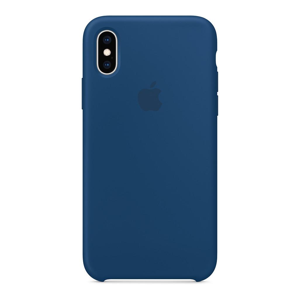 Apple iPhone Xs Coque en Silicone Bleu horizon
