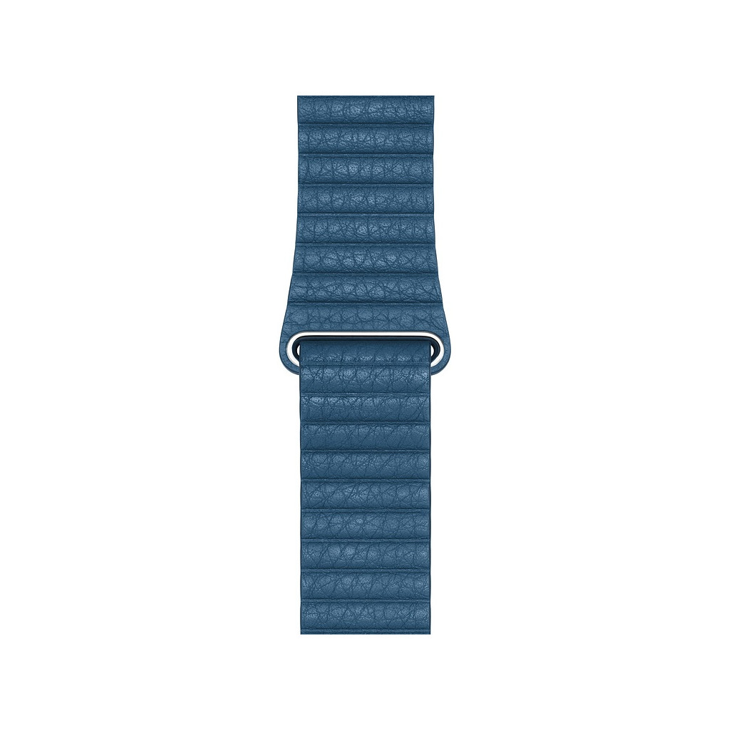 Apple Watch 44mm Leren Horlogeband Cape Cod Blauw Medium