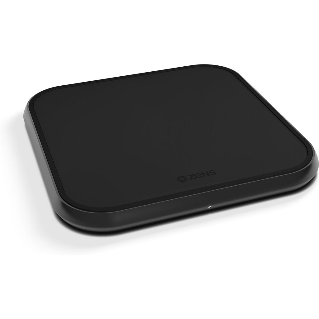 ZENS Single Chargeur sans fil en aluminium 10 W Noir