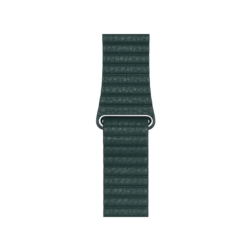 Apple Watch 44mm Leren Horlogeband Bosgroen Medium
