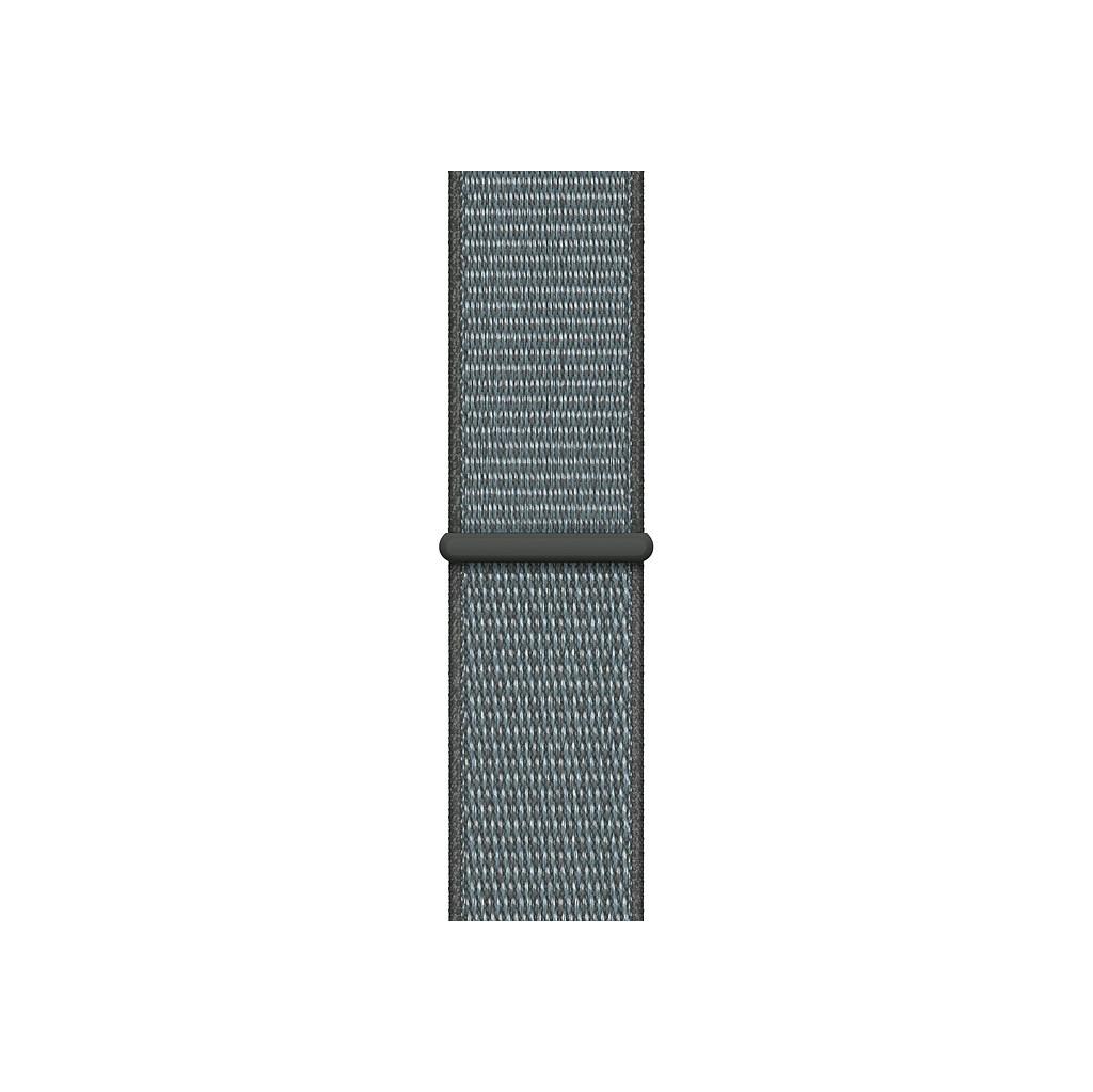 Apple Watch 44 mm Bracelet de Montre en Nylon Boucle Sport Gris orage