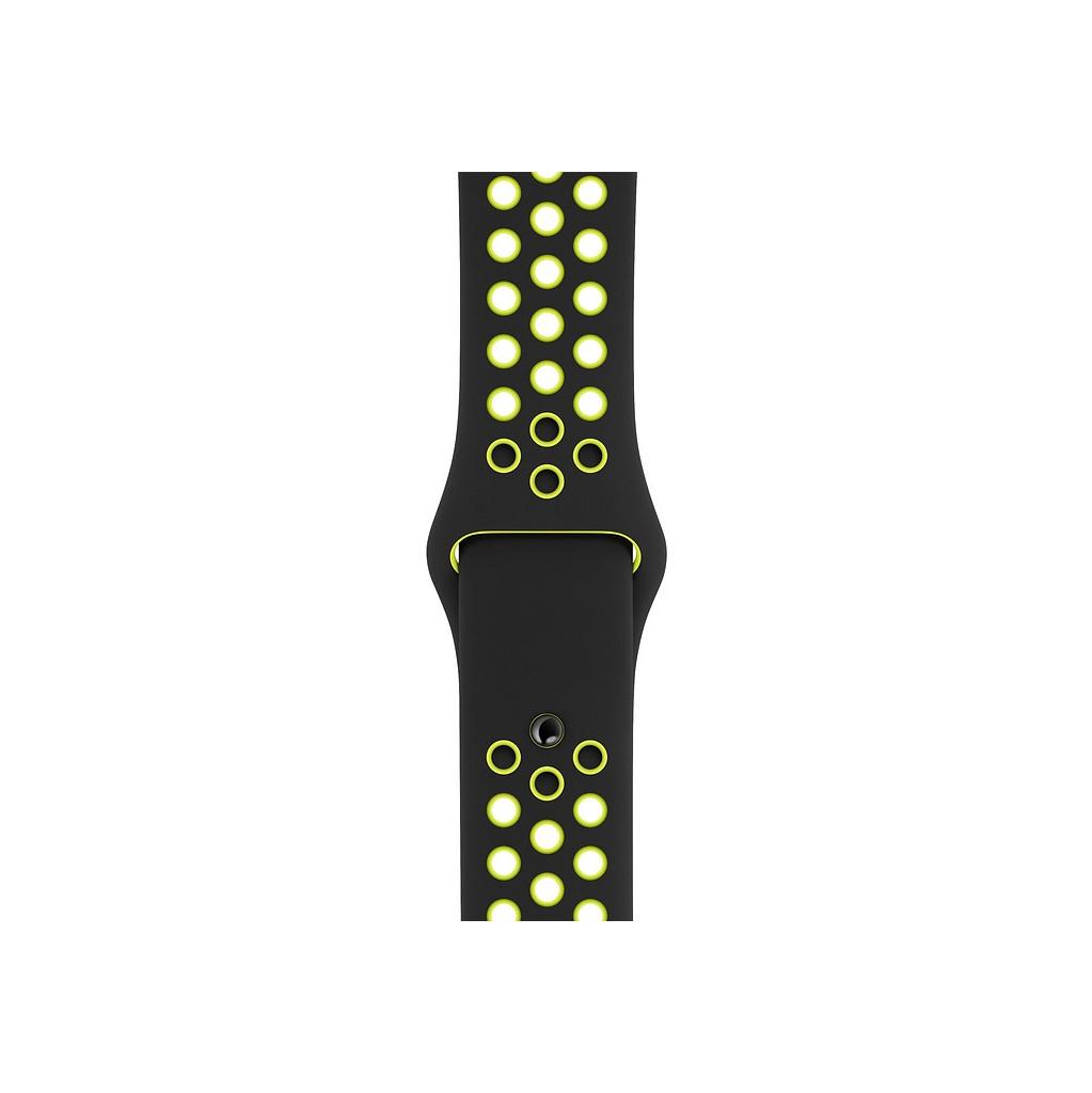 Bracelet de montre en Silicone Nike Sport pour Apple Watch 40 mm Noir/Volt