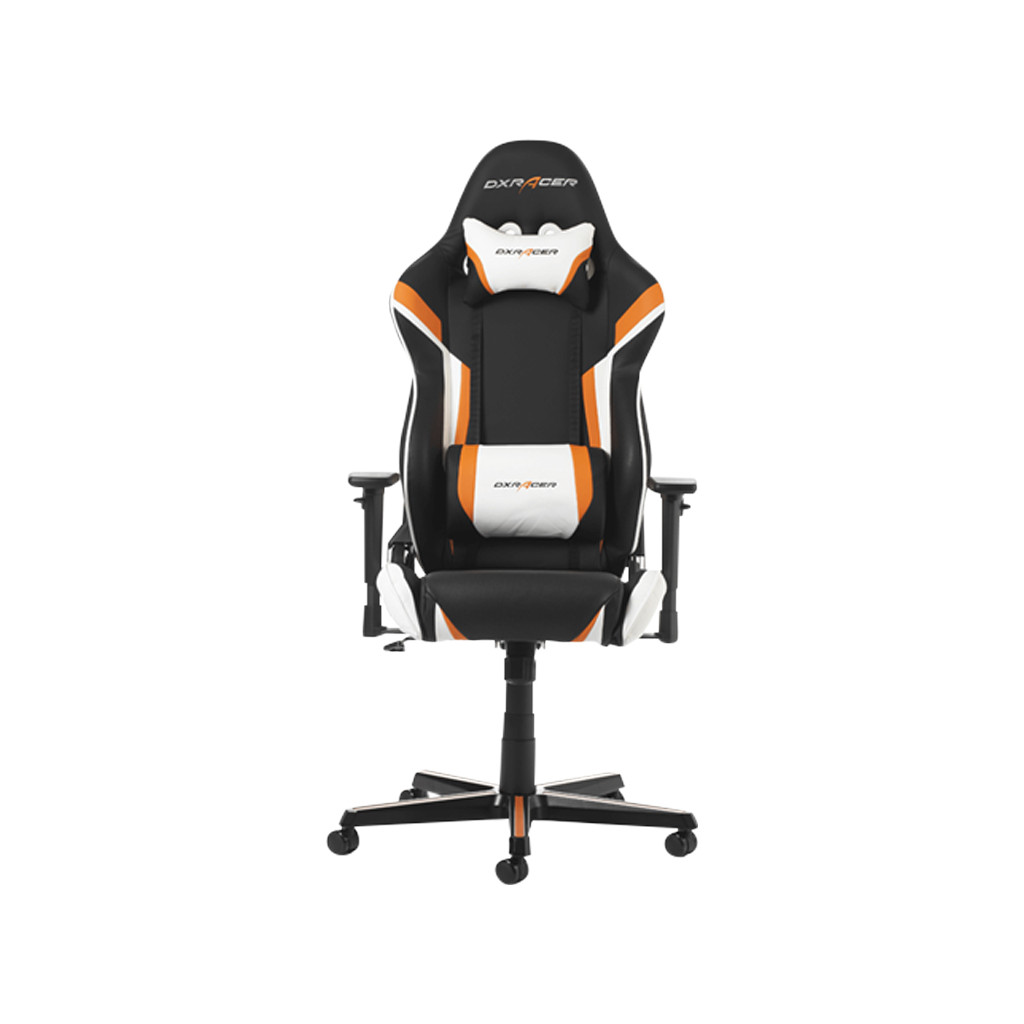 DXRacer RACING Chaise gaming Noir/Orange/Blanc