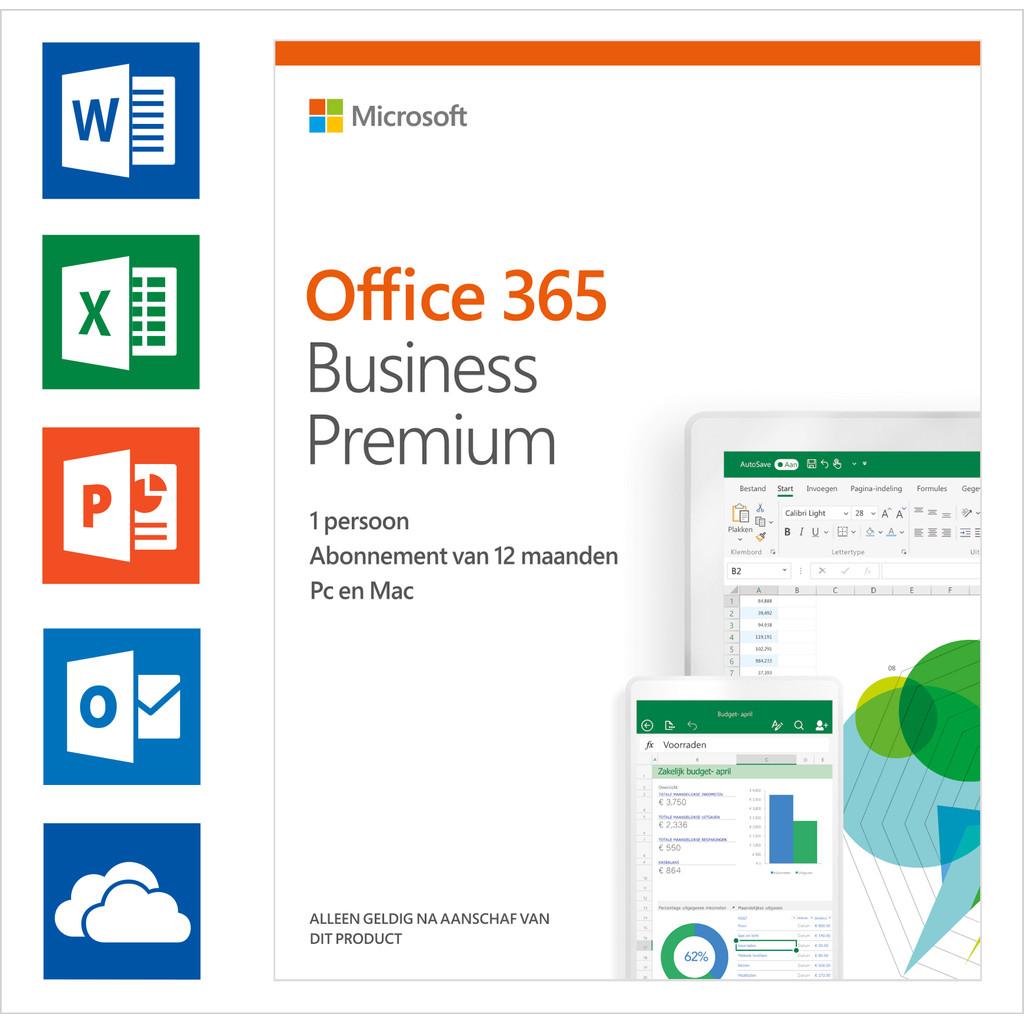 Microsoft Office 365 Business Premium Abonnement NL de 1 an
