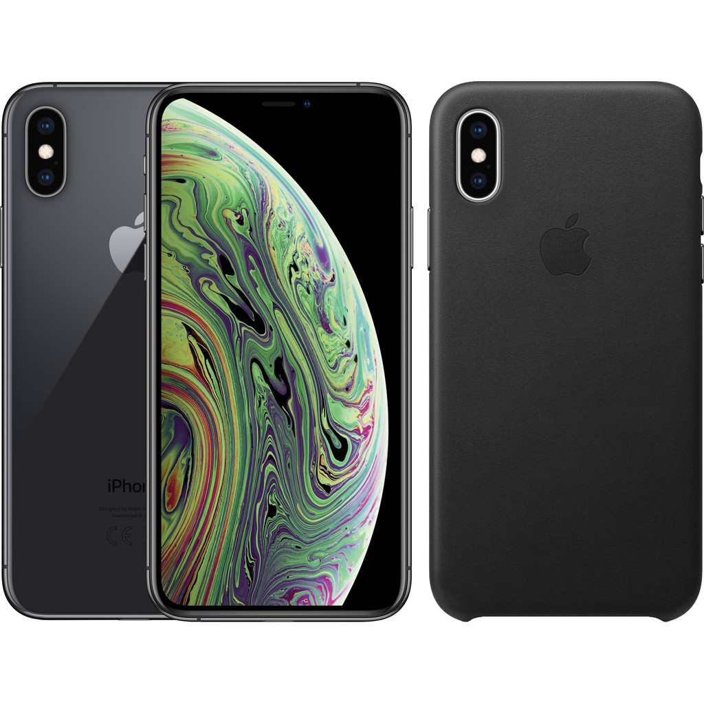 Apple iPhone Xs 256 GB Space Gray + Leather Back Cover