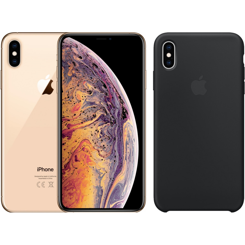 Apple iPhone Xs Max 512 GB Goud + Silicone Back Cover