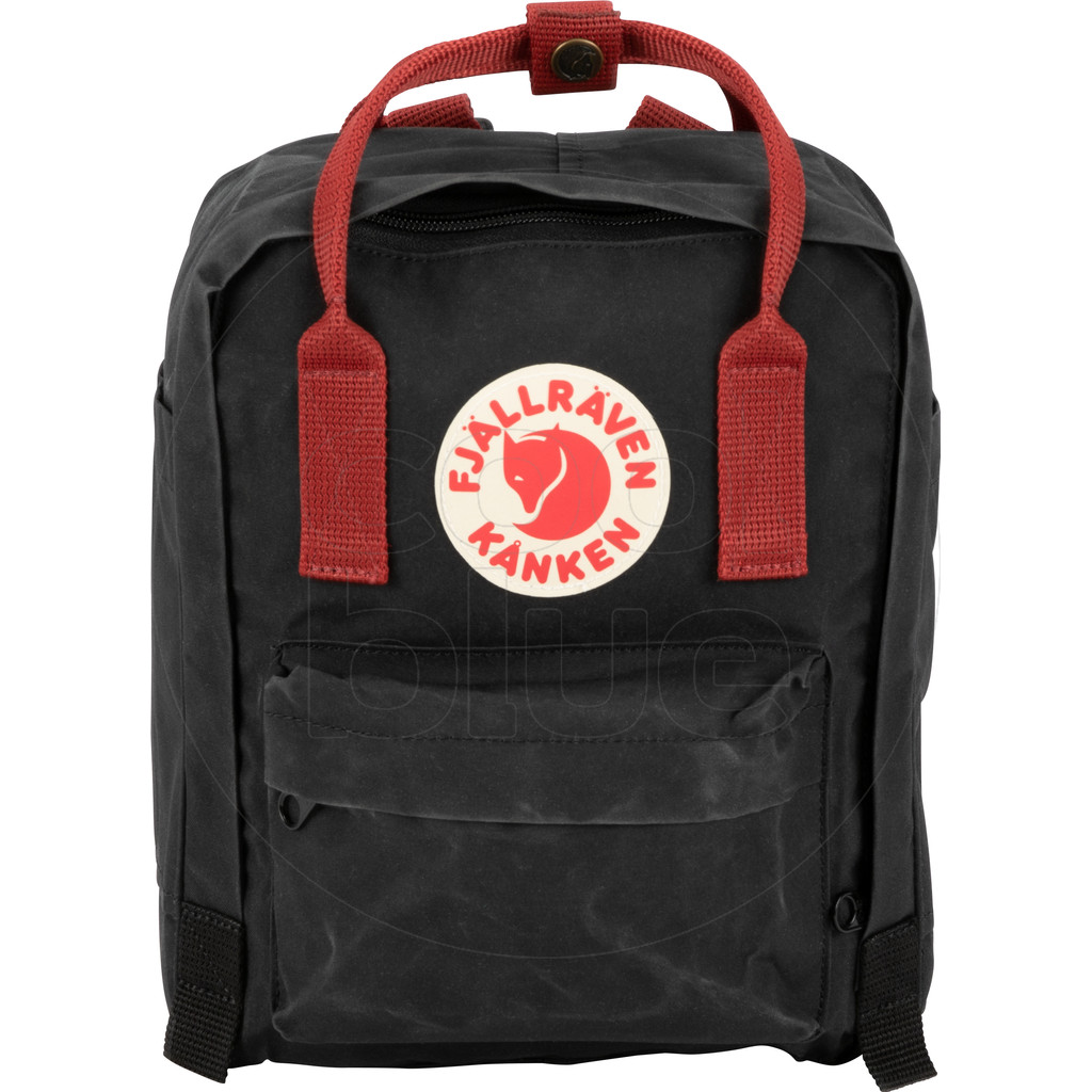 Fjällräven Kånken Mini Black-Ox Red - Kinderrugzak