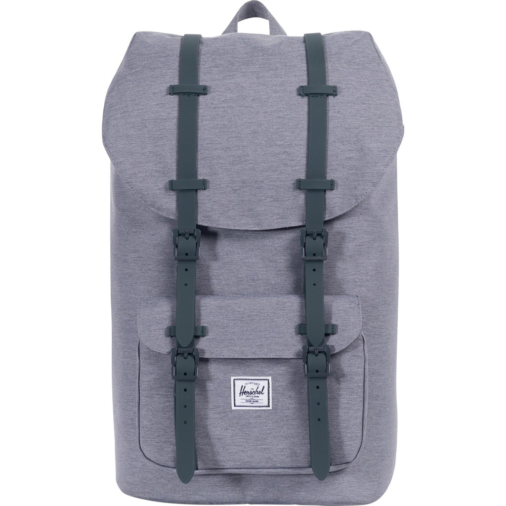 Herschel Little America Mid Grey Crosshatch
